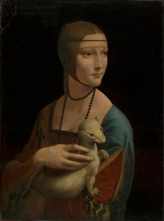 Leonardo Portrait of Cecilia Gallerani Lady Ermine ca 1489 90 Fundacja XX Czartoryskich