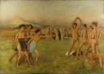 1860 62 Degas Young Spartans Exercising NGL