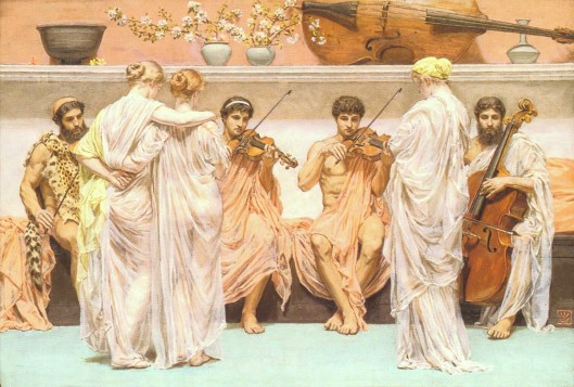 1868 Albert Moore A Quartet A Painter's Tribute to the Art of Music priv