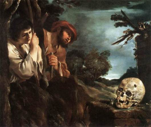 Guercino Et in Arcadia Ego 1618 22 Palazzo Barberini