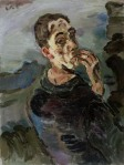 Oskar Kokoschka Self-Portrait One Hand Touching Face 1918 19 Leopold Museum