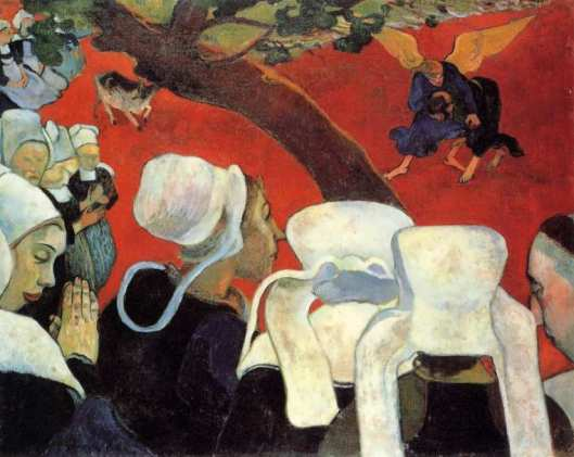 Paul Gauguin Jacob wrestling the Angel 1888 NGS