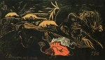 Paul Gauguin L'Univers est crée (The Creation of the Universe) 1893 94 Noa Noa Suite woodcut