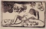 Paul Gauguin Te Arii Vahine Opoi (Woman with Mangoes Tired) 1898 woodcut