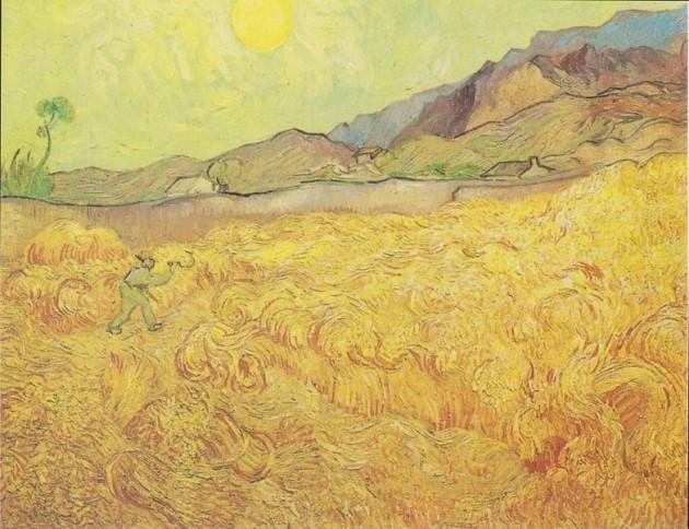 Vincent van Gogh Wheatfield with Reaper 1889 Van Gogh Museum