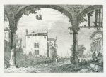 Giovanni Antonio Canal Canaletto Portico with a lantern ca 1740 44 etching