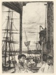 1860 Whistler Rotherhithe Wapping The Thames Set Sixteen Etchings V&A
