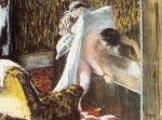 Edgar Degas Woman Leaving her Bath ca 1880 85 Orsay pastel monotype