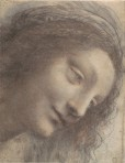 Leonardo Head of the Virgin in Three-Quarter View Facing Right 1508 12 1507 10 Met