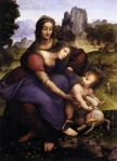 Leonardo workshop ca 1514 16 St Anne Uffizi