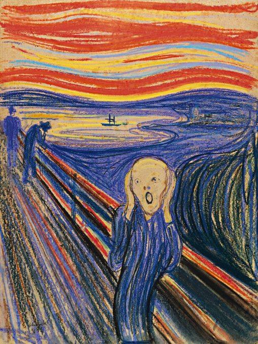 Edvard Munch Scream 1895 pastel Leon Black Coll NY