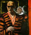 Max Beckmann Self-Portrait with Hunting Horn 1938