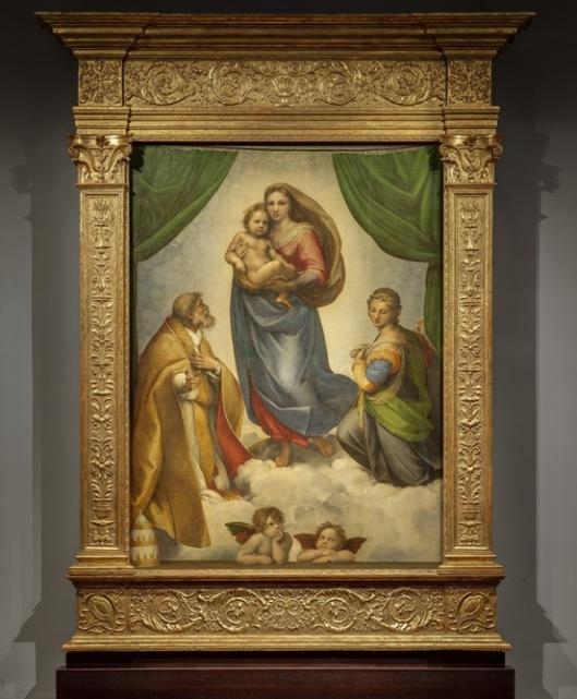 Madonna Sykstyńska Rafael Santi 1512 Drezno