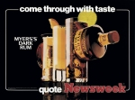 Jeff Koons Come Through with Taste Myers's Dark Rum Quote Newsweek 1986 (Luxury & Degradation) Schorr Family Coll