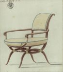 Karl Friedrich Schinkel Design for a Chair 1808 09 Berlin