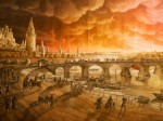 Karl Friedrich Schinkel Fire of Moscow 1812 13