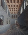 Karl Friedrich Schinkel Perspective view of a staircase with figures (Castle Köstritz) 1803 Berlin