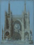 Karl Friedrich Schinkel Portal of a Gothic cathedral 1815 16 Berlin