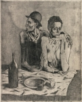 Pablo Picasso The Frugal Meal 1904 etching drypoint