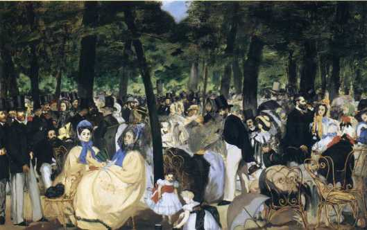 Édouard Manet Music in the Tuileries Gardens 1862 NGL National Gallery London