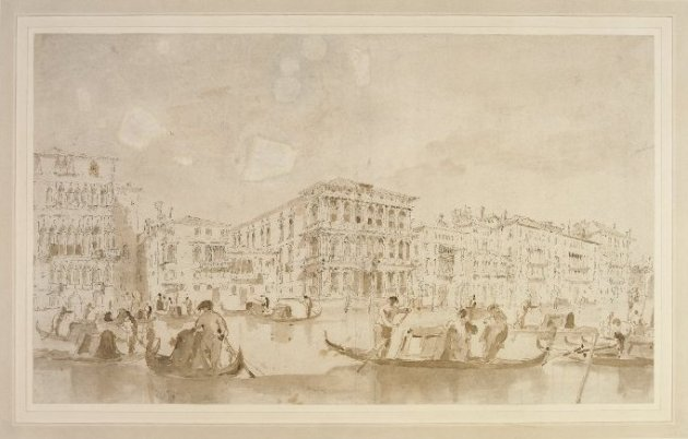 Francesco Guardi Gondolas on the Grand Canal with the Cà Rezzonico BM