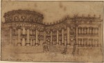 Gian Lorenzo Bernini Louvre east façade (study for the First Project) 1664 Courtauld