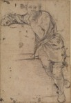 Jacopo Pontormo Seated youth (recto) ca 1520 Courtauld