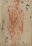 Jacopo Pontormo Study for Saint Jerome (verso)  ca 1520 Courtauld
