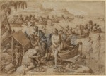 Johannes Stradanus (Jan van der Straet) Pearl diving ca 1596 Courtauld
