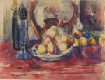 Paul Cézanne Apples bottle and chairback ca 1904 06 Courtauld