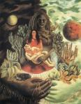 Frida Kahlo The Love Embrace of the Universe, the Earth (Mexico), Diego, Me and Señor Xólotl 1949 Gelman Coll