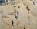 Gustave Caillebotte Traffic Island Boulevard Haussmann 1880 priv