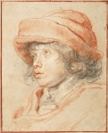 Peter Paul Rubens Nicolaas Wearing a Red Felt Cap 1625 Albertina