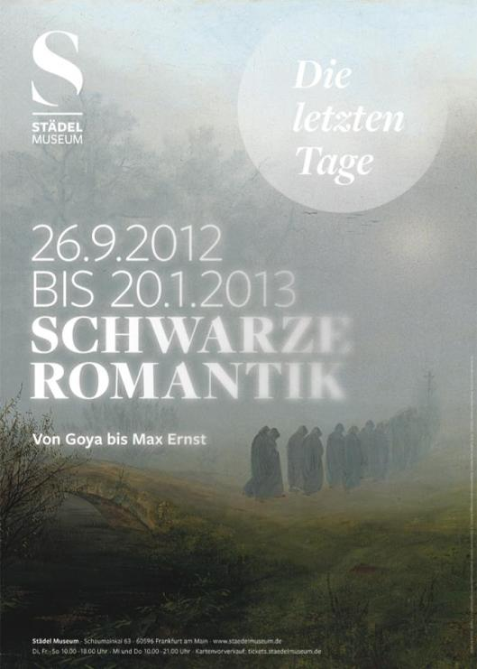 Schwarze Romantik Frankfurt poster