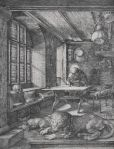 Albrecht Dürer St. Jerome in his Study ca 1514 engraving