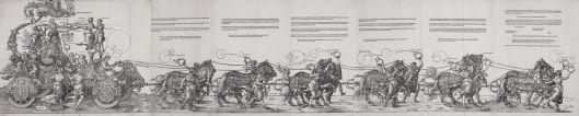 Albrecht Dürer The Great Triumphal Cart published 1523 woodcut