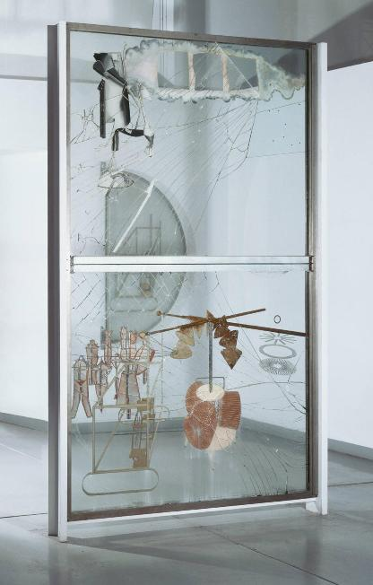 Marcel Duchamp The Bride Stripped Bare by Her Bachelors, Even (The Large Glass) 1915 23 Philadelphia Museum of Art