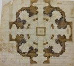 Michelangelo Plan for the church of San Giovanni dei Fiorentini in Rome 1559 60 Florence Casa Buonarroti