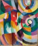 Sonia Delaunay-Terk Electric prisms 1913 Davis Museum at Wellesley College Wellesley