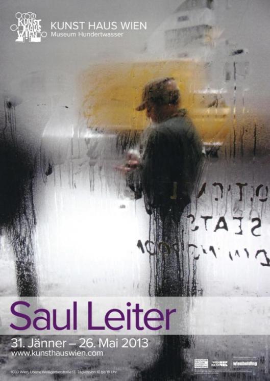 Saul Leiter exhibition poster Kunst Haus Wien Vienna