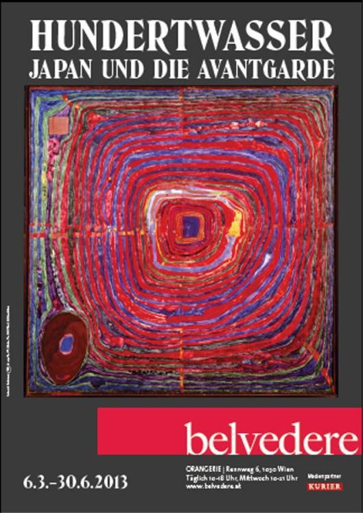 Hundertwasser Belvedere exhibition poster