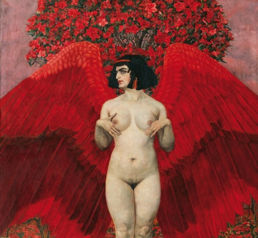 Karl Mediz Red Angel 1902 priv Vienna