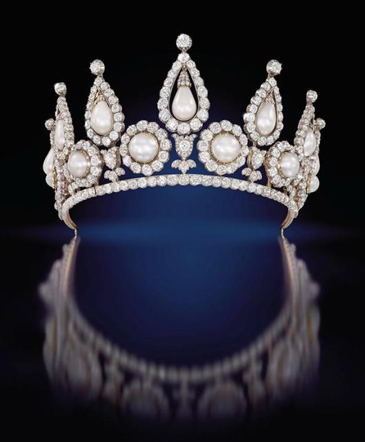 Lady Roseberry's pearl and diamond tiara London ca 1878 Qatar Museums Authority Collection