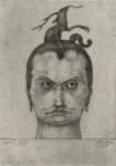 Paul Klee Menacing Head 1905