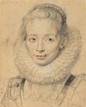 Peter Paul Rubens Clara Serena (so-called Infanta Isabella's Lady-in-Waiting) ca 1623 Albertina