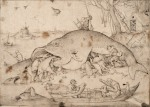 Pieter Brueghel the Elder Big Fish Eat Little Fish 1556 Albertina