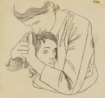 Andy Warhol Mother Embracing Girl ca 1954