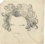 Andy Warhol Portrait of a Woman ca 1957