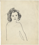 Andy Warhol Serious Girl ca 1954