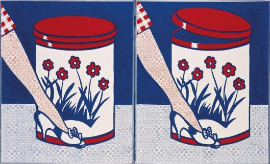 Roy Lichtenstein Step-on Can with Leg 1961 Fondation Louis Vuitton